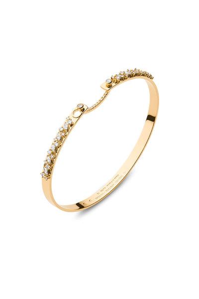 Nouvel Heritage - Yellow Gold Under The Stars Diamond Mood Bangle