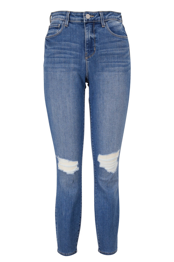 L'Agence Margot Syracuse Distressed High-Rise Ankle Jean
