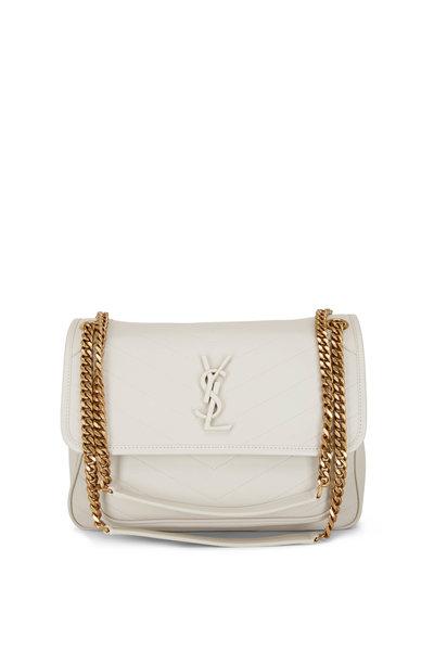 Saint Laurent - Niki Cream Soft Leather Medium Shoulder Bag