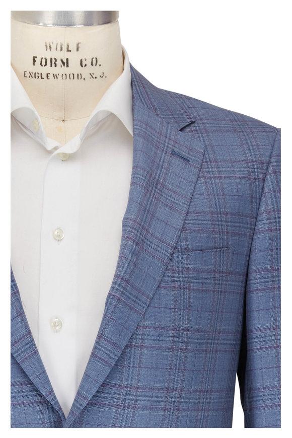 Canali Siena Blue & Purple Glen Plaid Sportcoat