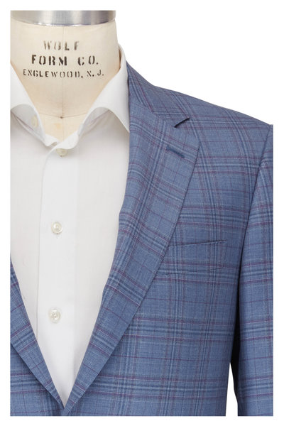Canali - Siena Blue & Purple Glen Plaid Sportcoat
