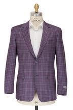 Canali - Siena Purple & Blue Windowpane Sportcoat