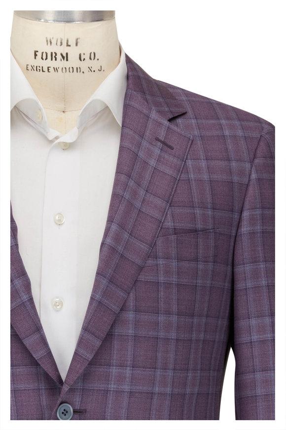 Canali Siena Purple & Blue Windowpane Sportcoat
