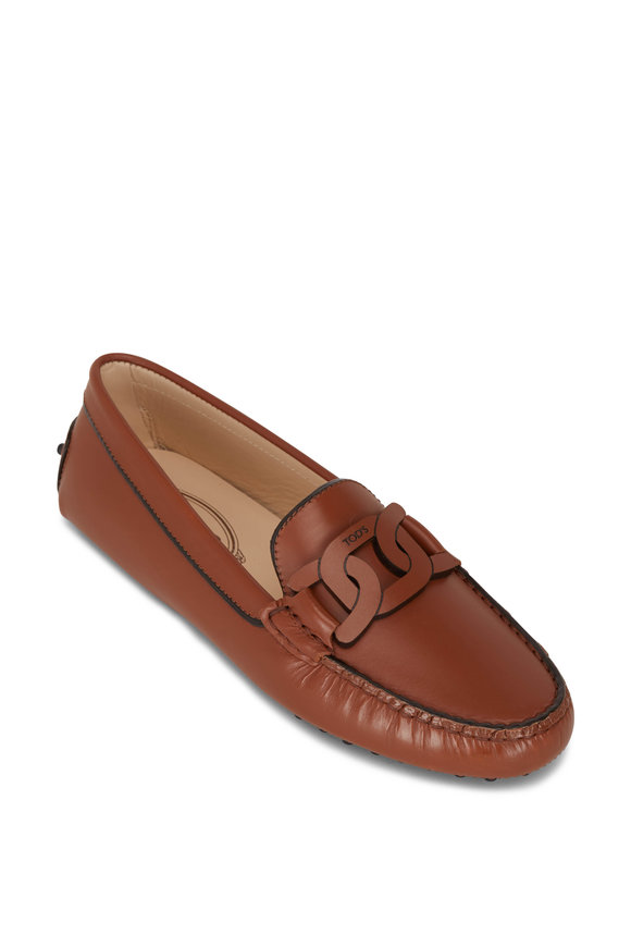 Tod's Kate Brown Leather Gommini Loafer