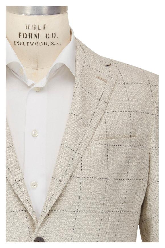 Corneliani Cream Hemp, Linen & Silk Sportcoat