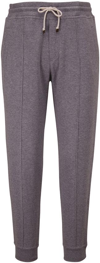 Brunello Cucinelli Gray Stretch Cotton Jogger