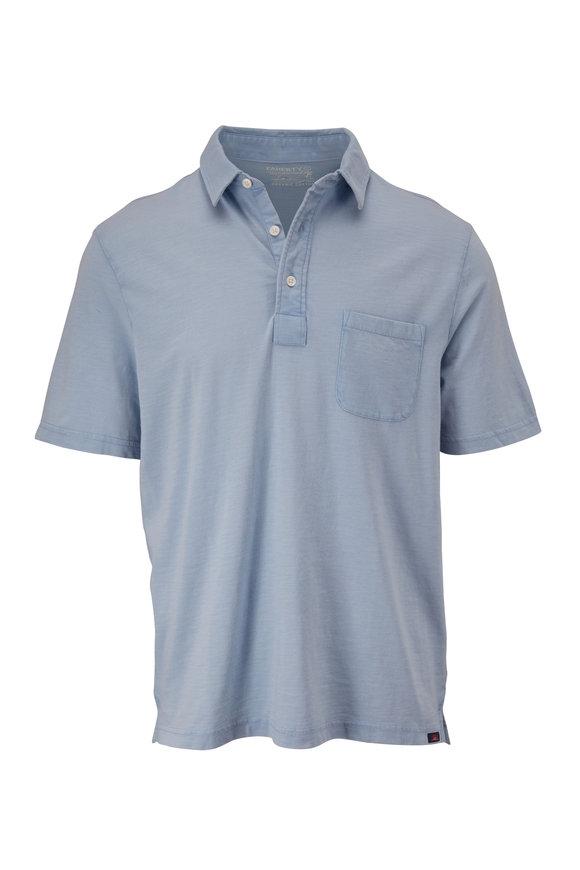Faherty Brand Sunwashed Dusk Blue Short Sleeve Polo