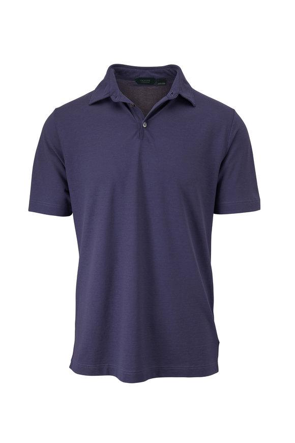 Zanone Blue Ice Cotton Short Sleeve Polo