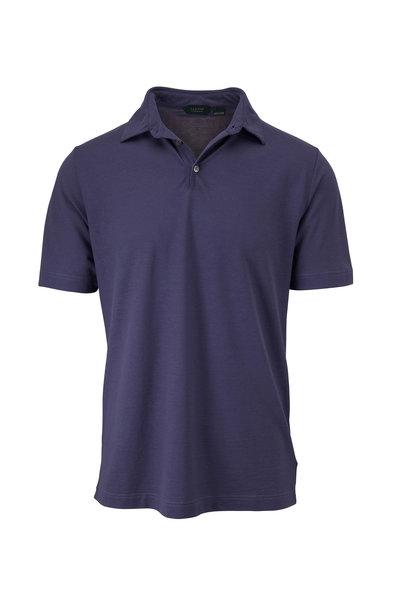 Zanone - Blue Ice Cotton Short Sleeve Polo
