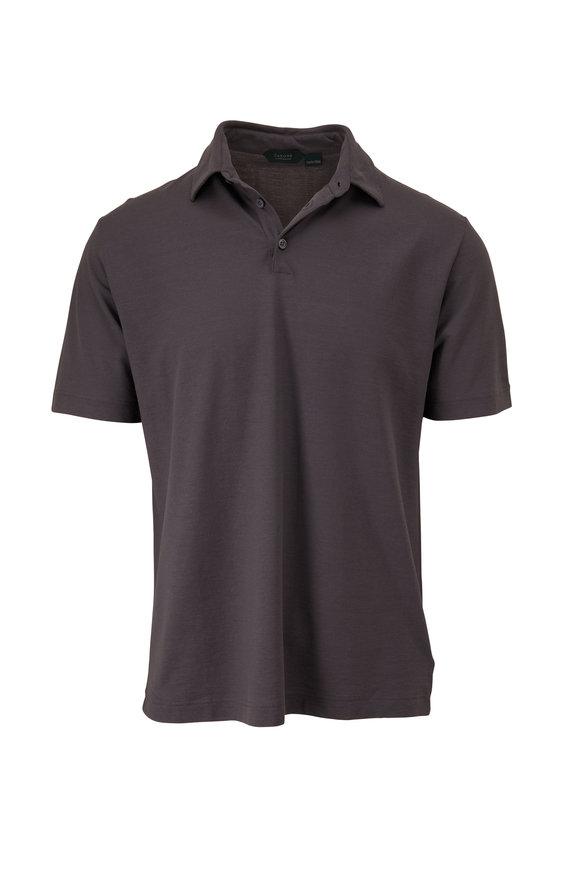 Zanone Gray Ice Cotton Short Sleeve Polo