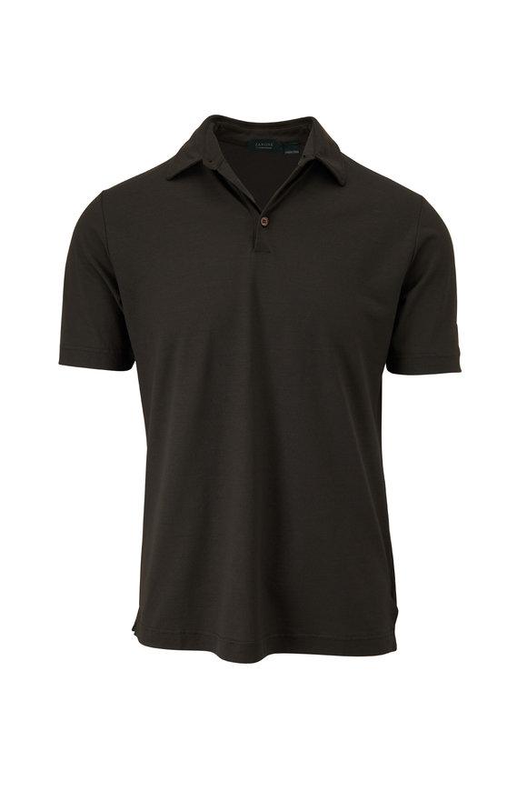 Zanone Green Ice Cotton Short Sleeve Polo