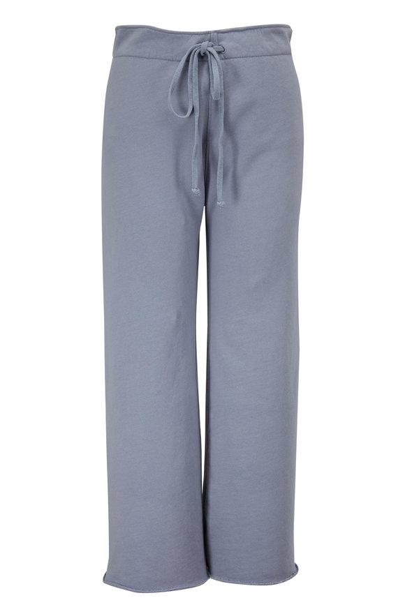 Nili Lotan Kiki Slate Blue Cropped Sweatpant