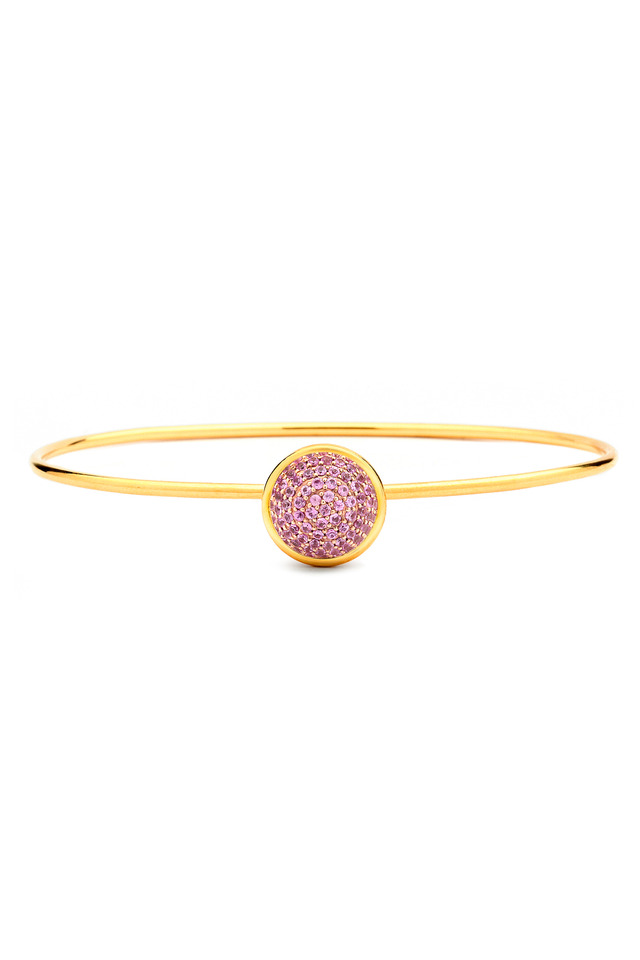 Baubles Yellow Gold Pink Sapphire Stack Bracelet