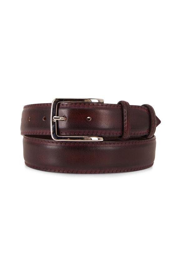 Bontoni Classic New Bordeaux Leather Belt