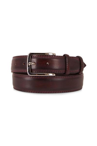 Bontoni - Classic New Bordeaux Leather Belt