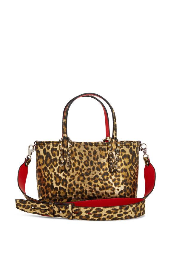 Christian Louboutin Mini Cabata Leopard-Print Leather Crossbody Tote
