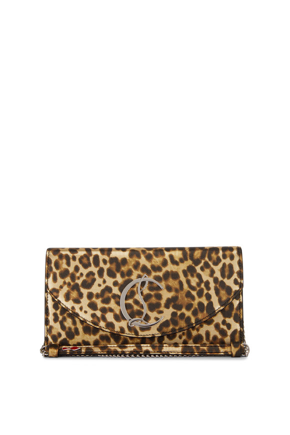 Christian Louboutin Loubi54 Leopard-Print Calf Leather Chain Wallet