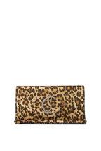Christian Louboutin - Loubi54 Leopard-Print Calf Leather Chain Wallet