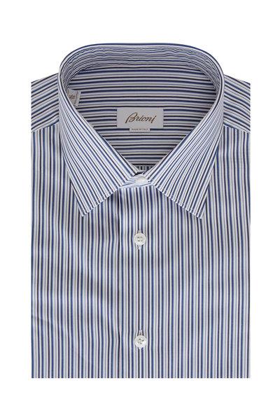 Brioni - Dark Navy Stripe Sport Shirt