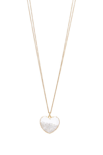 Renee Lewis - Yellow Gold White Diamond Heart Shake Necklace
