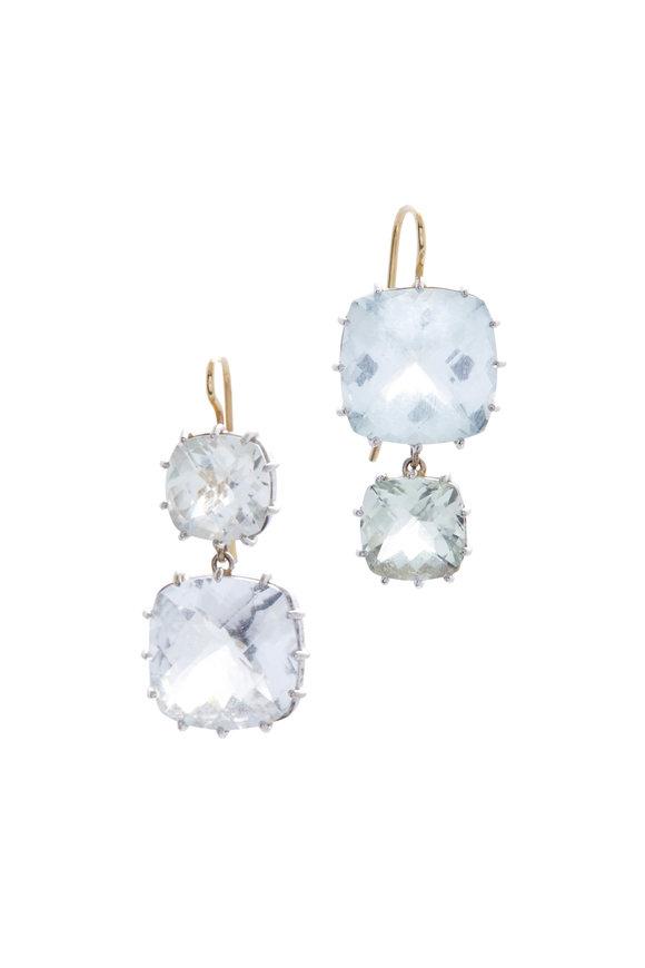 Renee Lewis White Gold Aquamarine Earrings
