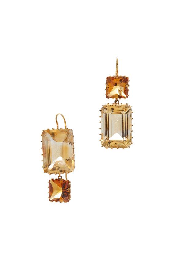 Renee Lewis 18K Yellow Gold Citrine Earrings