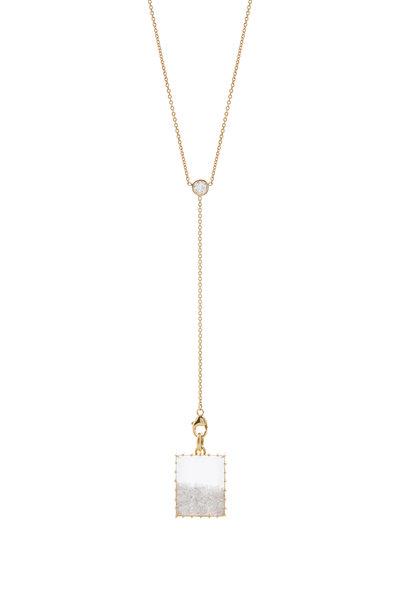 Renee Lewis - Yellow Gold Diamond Shake Chain Necklace