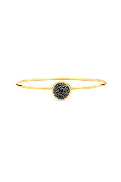 Syna - Baubles Yellow Gold Black Diamond Stack Bracelet