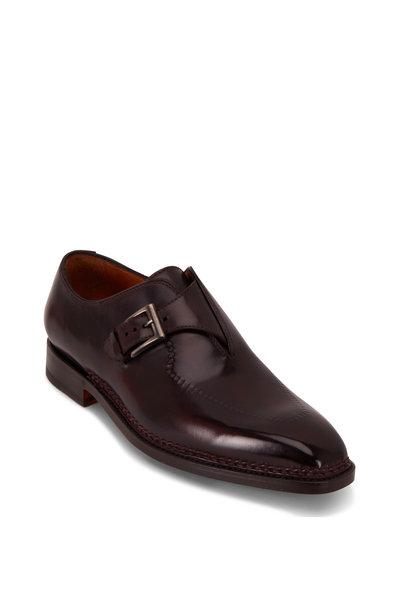 Bontoni - Brillantina II Bordeaux Single Monk Strap Shoe