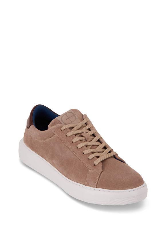 G Brown Puff Nutmeg Suede Sneaker