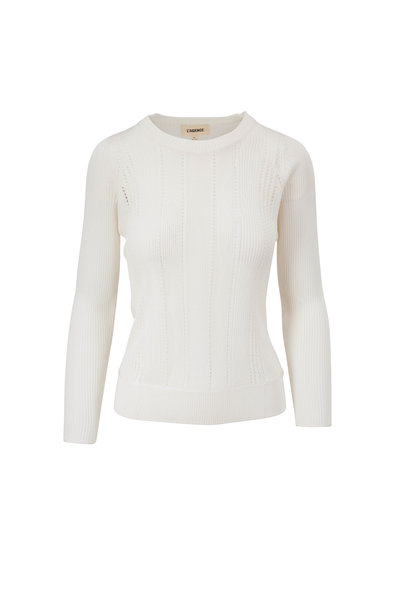 L'Agence - Whitley Ivory Crewneck Sweater