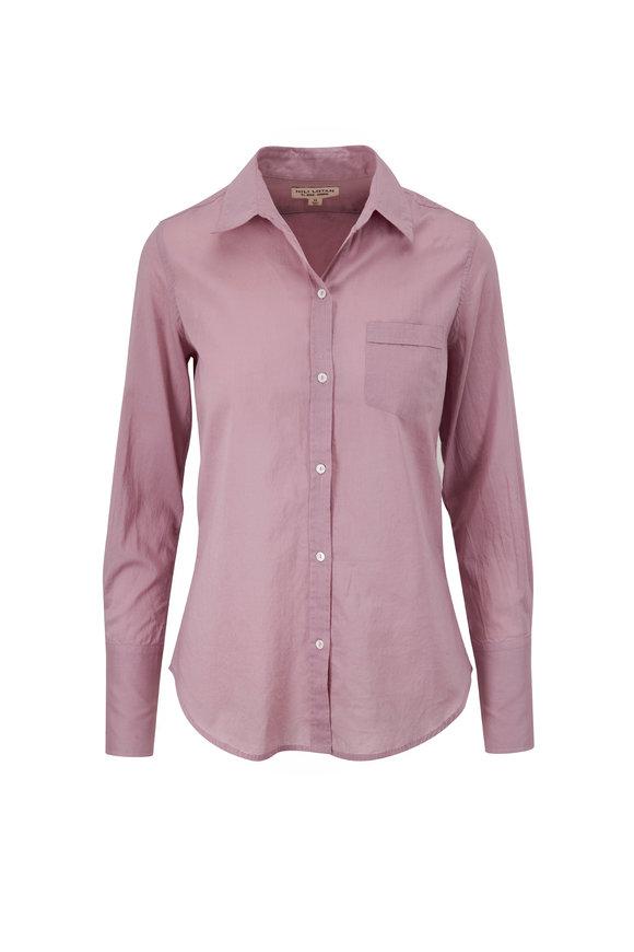 Nili Lotan Libby Lilac Cotton Button Down Shirt