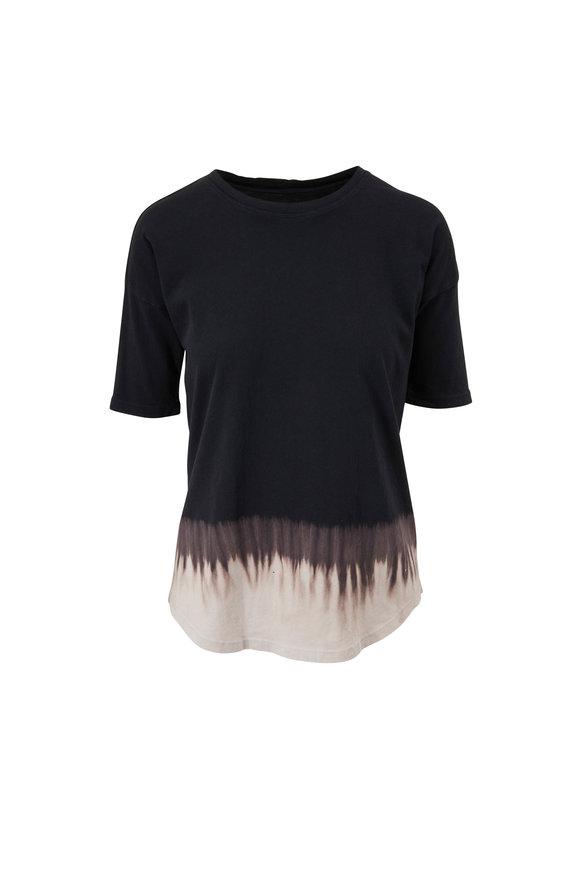 Raquel Allegra Basic Black Tie Dye T-Shirt