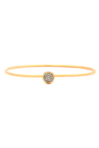 Syna - Baubles Yellow Gold Champagne Diamond Stack Bangle