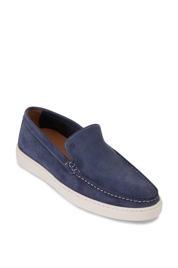 G Brown Bert Jean Blue Suede Slip On Sneaker