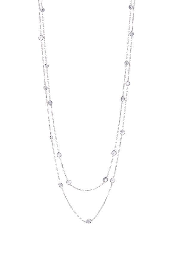 Renee Lewis White Gold 2 Chain Diamond Necklace
