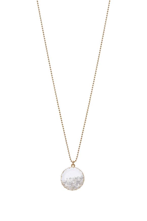 Renee Lewis White Gold White Diamond Shake Necklace