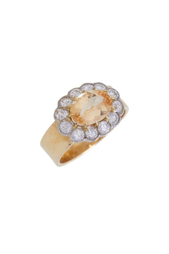 Renee Lewis Yellow Gold Topaz Ring