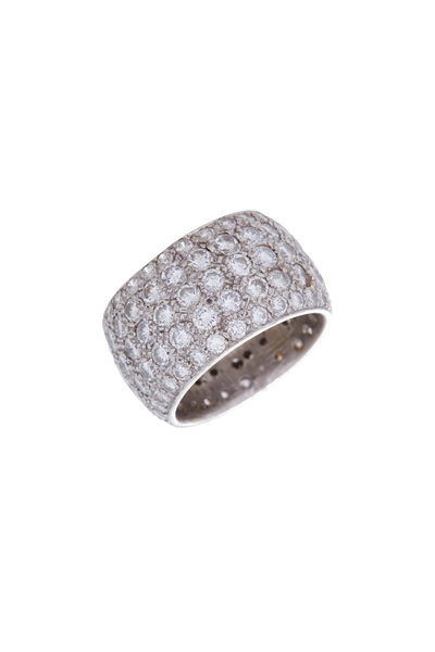 Renee Lewis - White Gold Antique Diamond Eternity Band
