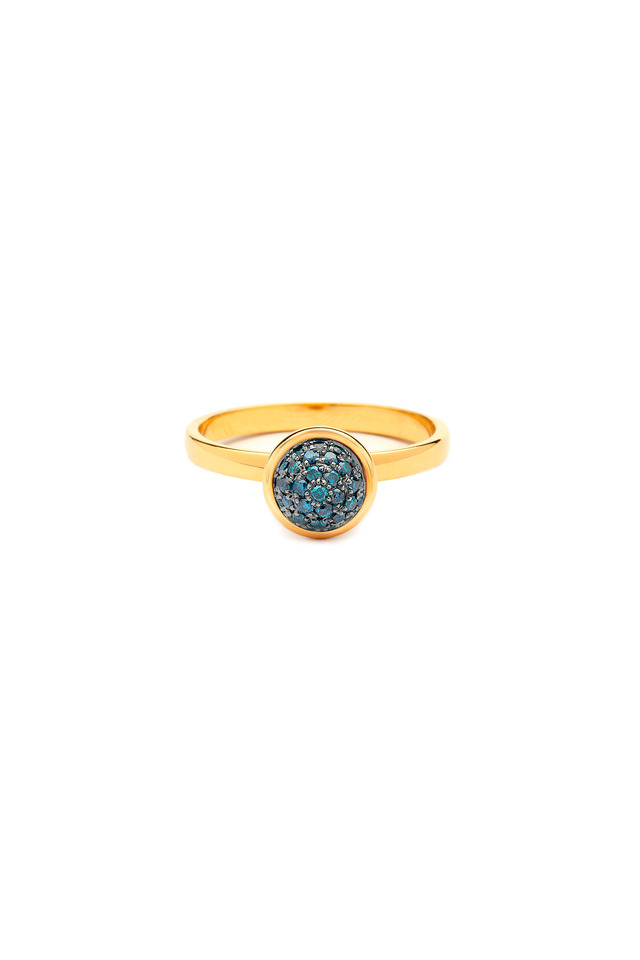 Baubles Yellow Gold Blue Diamond Stack Ring