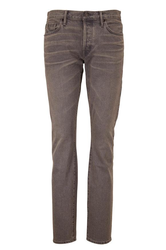 Tom Ford Gray Selvedge Five Pocket Jean
