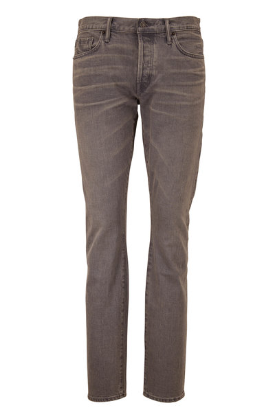 Tom Ford - Gray Selvedge Five Pocket Jean