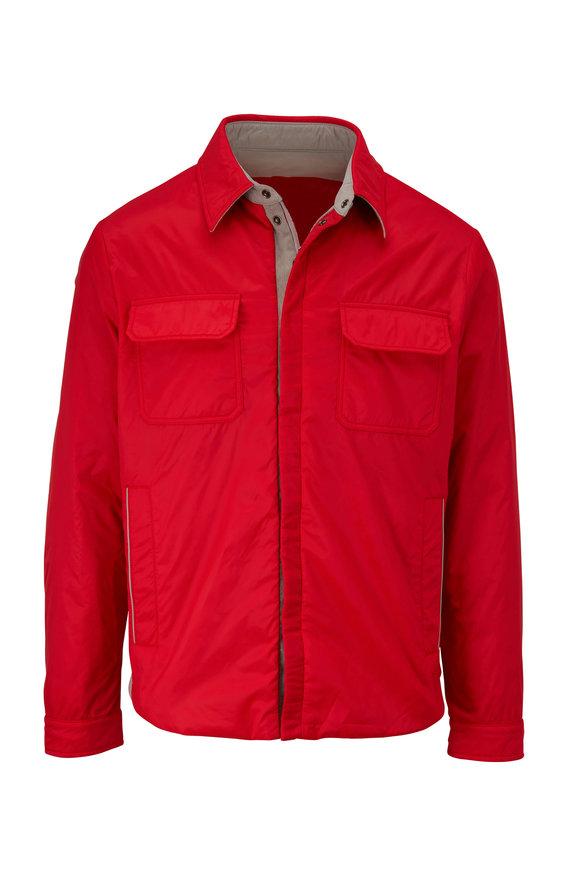 Kiton Bright Red Nylon Jacket