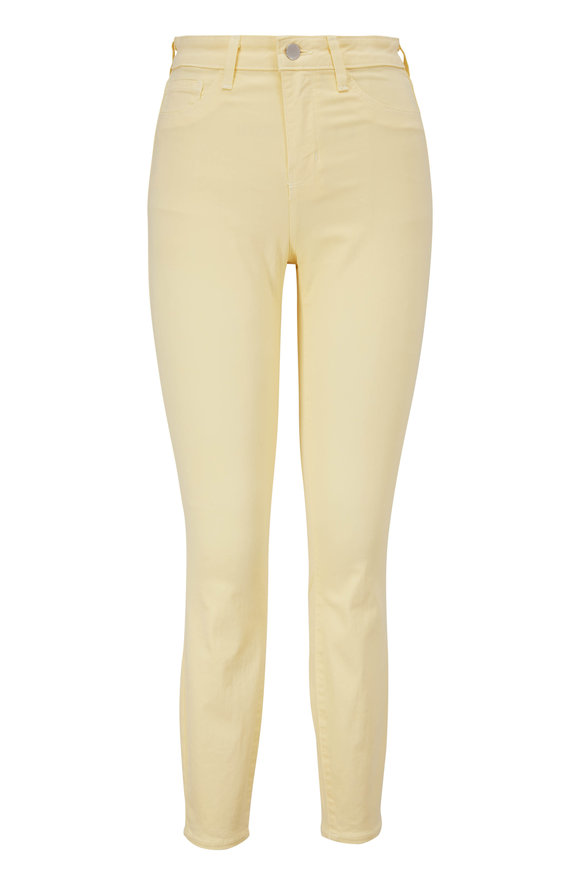 L'Agence Margot Pale Banana High-Rise Ankle Jean