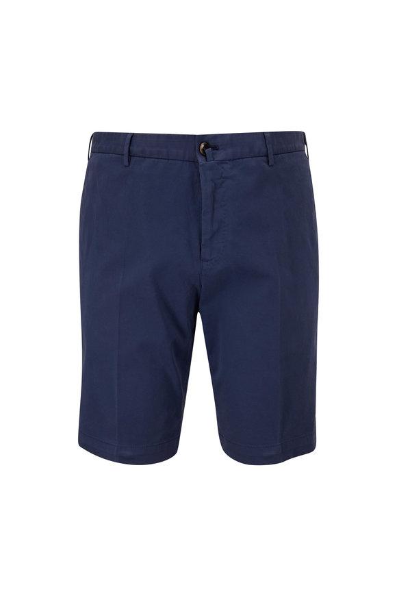PT Torino Blue Stretch Cotton Shorts