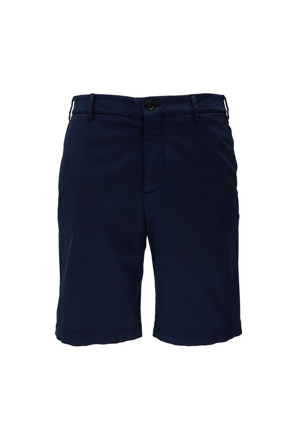 Brunello Cucinelli Navy Stretch Cotton Short