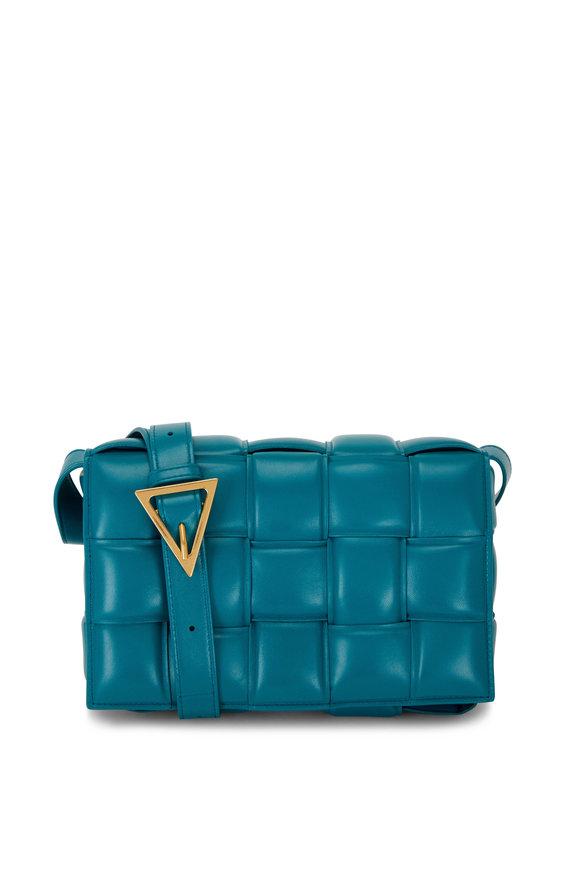 Bottega Veneta Cassette Mallard Green Padded Woven Leather Bag