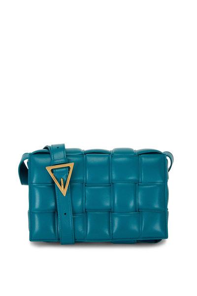 Bottega Veneta - Cassette Mallard Green Padded Woven Leather Bag