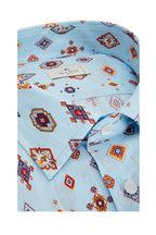 Etro - Azure Ikat Print Sport Shirt