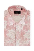 Sand - Pink Pineapple Print Short Sleeve Sport Shirt